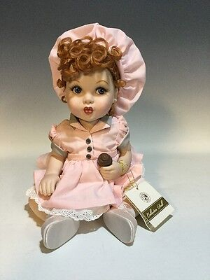 Franklin Mint I Love Lucy Portrait Porcelain Baby Doll Chocolate Factory