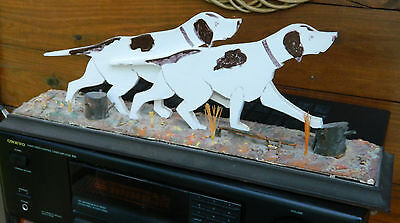 Beautiful Handmade Wood GERMAN SHORT HAIRED POINTER Dogs Hunting Statue/Figure