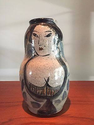 Mid Century Modern Hand Painted Art Pottery ~Signed~  Picasso vibe