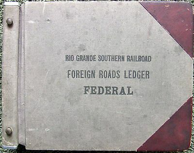 Rio Grande Southern Foreign Roads LEDGER-RGS-1917-1919