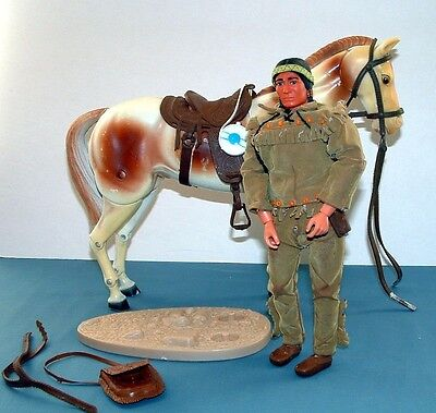 Lone Ranger: Tonto & Scout Action Figure Set - Gabriel - 1970's - Used