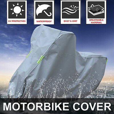 XL Motorcycle Waterproof Outdoor Motorbike Rain Vented Bike Scooter Cover