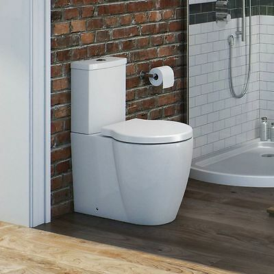Comfort Height Rise Close Coupled Back to Wall toilet Wrap Over Soft Cose Seat
