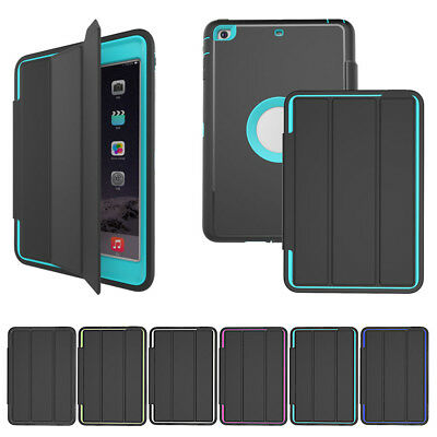 Heavy Duty Smart Cover Shockproof Hard Back Case for iPad 4 3 2 | MINI 123 Pro
