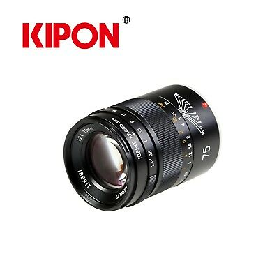 KIPON IBERIT 75mm F2.4 Full Frame Camera Lenses for Fuji X Mount