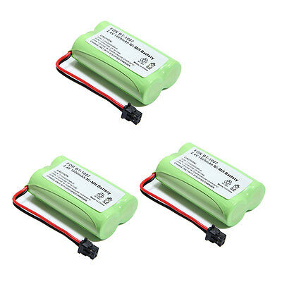 3X 1600mAh Phone Battery For Uniden BT-1007 BT904 BP904 BT1007 BT1015 HHR-P506