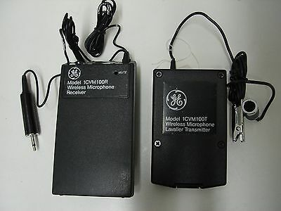 GE 1CVM100 Camcorder Lavalier Wireless Microphone System