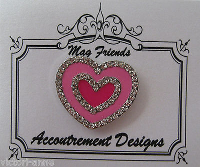 Accoutrement Designs Pink Heart Needle Minder Magnet Mag Friends