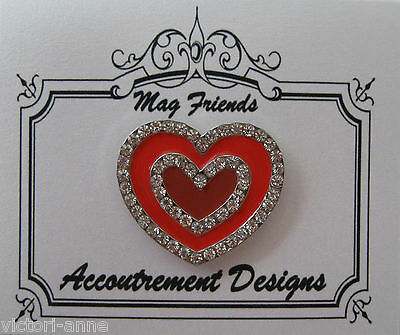 Accoutrement Designs Red Heart Needle Minder Magnet Mag Friends