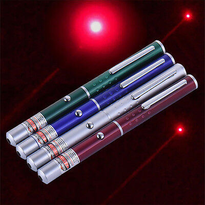 650nm Powerful Visible Light Beam Red Focus Burning Laser Pointer Pen Torch