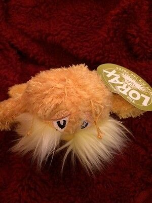 Manhattan Toy Dr. Seuss The Lorax Soft Plush Stuffed New with Tag Orange Doll