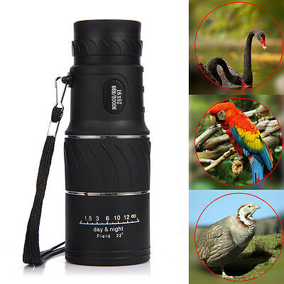 Day&Night Vision 16x52 HD Optical Monocular Hunting Camping Hiking Telescope NEW