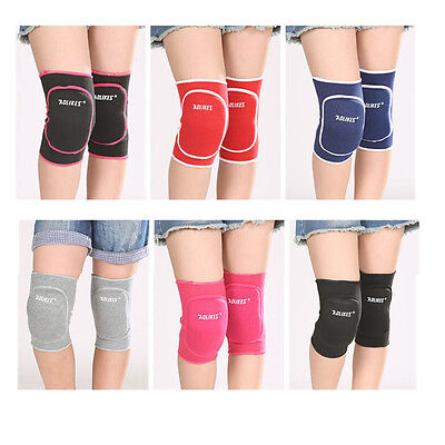 Kids Child Sports Volleyball Wrestling Dance Knee Pads Cap Protector Martial Art