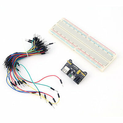 New MB102 Power Supply Module 3.3V 5V Breadboard Board And Jumper Cable DP
