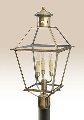 Philadelphia Post Light - Colonial Early American Style Brass Outdoor Lighting