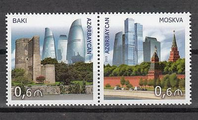 Archtecture Azerbaijan Aserbaidschan 2015 MNH** Mi.1123-24 Joint Issue Russia