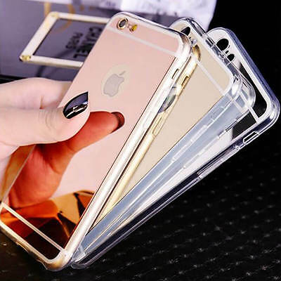Ultra Thin Mirror Back Soft TPU Silicone Case Cover For Apple iPhone SE 6s 7 8 +