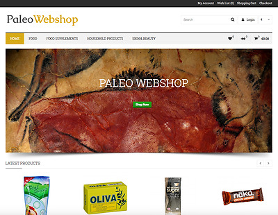 eCommerce Website + Premium Domain name - Paleowebshop.com