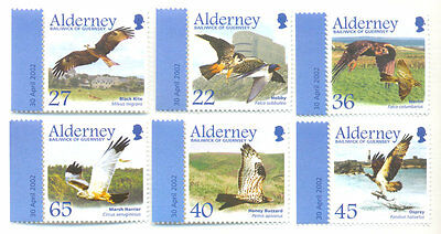 Alderney - Birds of Prey set mnh - Raptors - 2002