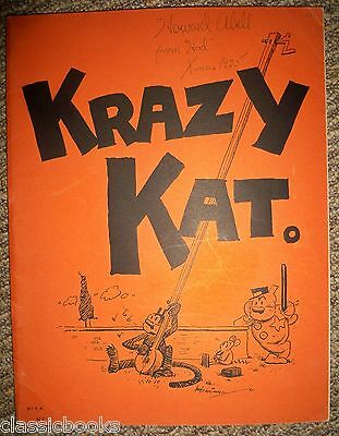 RARE 1922 Krazy Kat A Jazz Pantomime for Piano Music First Print FINE+ HIGH GRAD