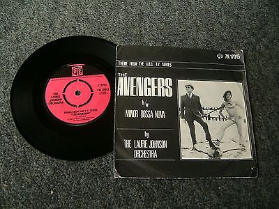 The avengers,John Steed,Diana Rigg,The avengers theme tune,PIC SLEEVE.SCARCE 45.