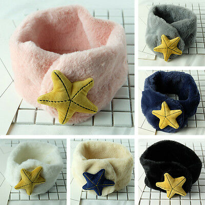 Winter Toddler Baby Boys Girls Woolen O Ring Starfish Scarf Warm Scarves Shawl