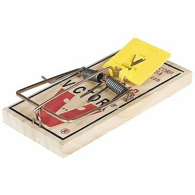 Victor Pest Wooden Rat Trap Rodent Control Snap Shut Easy Set x 2