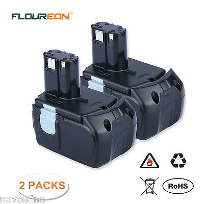 2x 3000mAh 18V Li-ion Batteria for HITACHI BCL1815 BCL1830 EBM1830 327730 C6DC