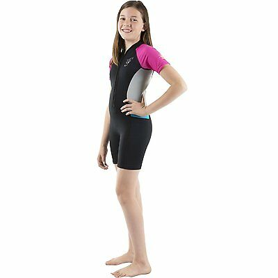 Seavenger Kids 2mm UV Protective Colorful Thermal Swim Suits Shorty Hot - #527