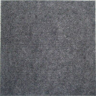 Carpet Tiles Peel and Stick 144 Square Feet Charcoal Floor Self Adhesive Squares
