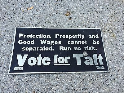 """""""Vote for Taft"""" Republican Party Political Ad 11x21 President Election 1912"""
