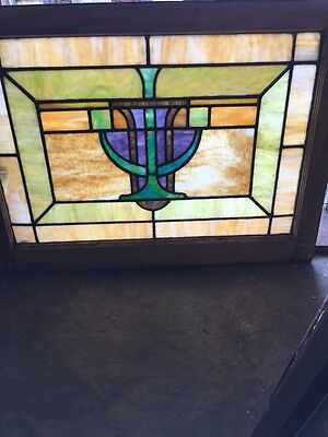 Sg 1045 Antique Arts And Crafts Landing Window
