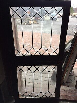 Sg 10 47 2Available Price Each Antique Geometric Design Leaded Glass Window