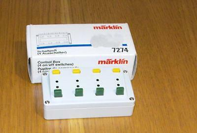M7274 Marklin Control Box 4 on/off Switches BOXED used