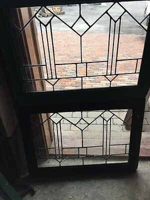 Sg 1048 2Available Priced Each Antique Leaded Glass Window 28.5 X 21.25