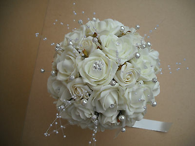 Stunning, and Gorgeous Bridal Flowers, LOLA. WHITE main colour