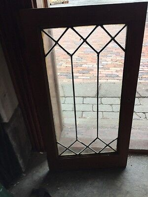 Sg 1054 Antique Leaded Glass Cabinet Door Or Window