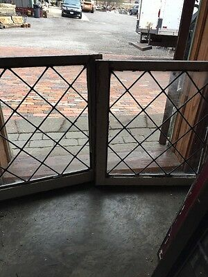 Sg 1056 Two Available Price Separate Antique Leaded Glass Diamond Window