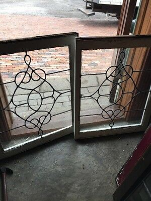 Sg 1058 2Available Priced Each Antique Swirly Leaded Window 23.25 X 28.5""