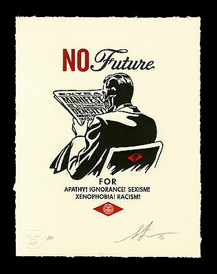 Shepard Fairey Obey Giant NO FUTURE Letterpress SIGNED Print We The People