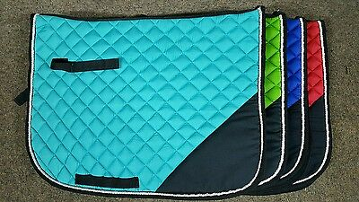 ***two-Tone Corner Saddle Cloth Numnah (Perfect For Embroidery)***
