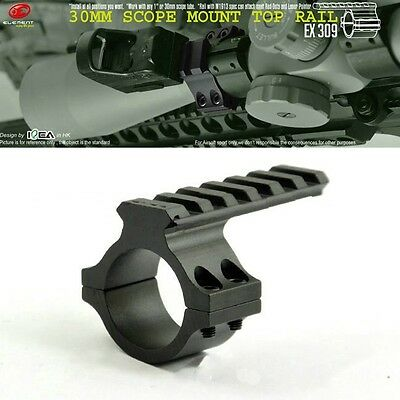 Tactical Extension Top Rail Mount For 30mm Riflescope Black