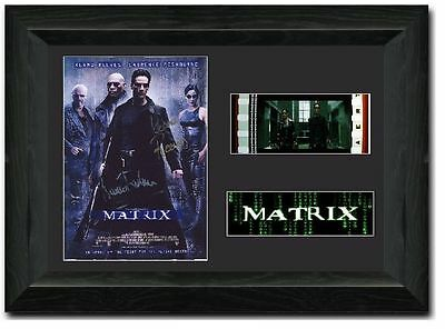 The Matrix Film Cell 35 mm Film Cell Stunning display Cast Signed Keanu Reeves