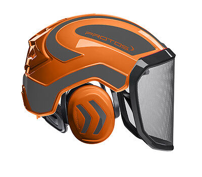 Pfanner Protos Integral Forest Helm Forsthelm Schutzhelm orange-grau G16