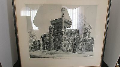 Brandeis University The Castles Sgnd Sidney L. Kaye 1950 Lithograph Etching
