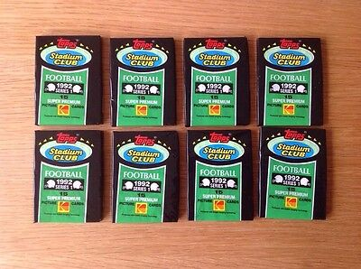 8 UNOPENED Packs 1992 Stadium Club NFL American Football TRADING CARDS