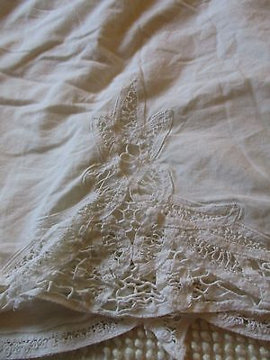 vintage look TWIN LACE Bed Skirt Bedding Shabby Cottage French Country CHIC
