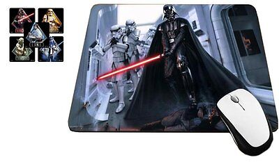 Darth Vader Starship Invasion Mouse Pad with License Star Wars Stickers, MP432