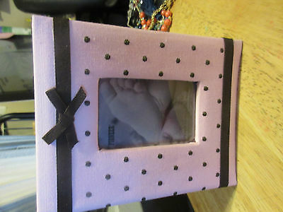 Pioneer Embroidered 100 Pocket Frame Fabric Cover Photo Album, Baby Pink New