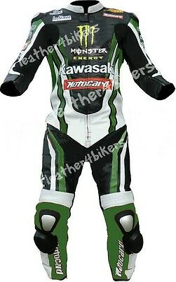 Kawasaki Ninja Leather Motorbike Leather Suit Motorcycle Leather Jacket Trouser